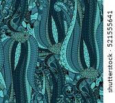 tracery seamless calming... | Shutterstock . vector #521555641