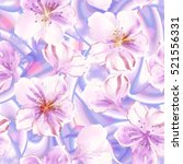 seamless floral watercolor... | Shutterstock . vector #521556331