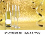 new year toast champagne banner ... | Shutterstock . vector #521557909