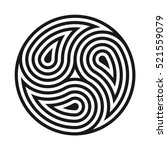 triskelion symbol. vector... | Shutterstock .eps vector #521559079