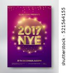 nye  new year eve template... | Shutterstock .eps vector #521564155