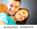 beautiful young couple in love...   Shutterstock . vector #521564575