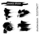 vector set of grunge brush... | Shutterstock .eps vector #521570677