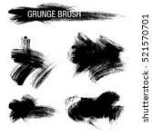 vector set of grunge brush... | Shutterstock .eps vector #521570701
