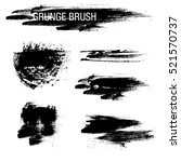 vector set of grunge brush... | Shutterstock .eps vector #521570737