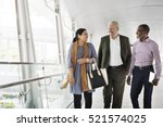 business people walking... | Shutterstock . vector #521574025