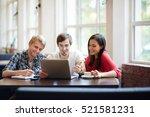 students of high school | Shutterstock . vector #521581231