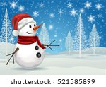 merry christmas and happy new... | Shutterstock .eps vector #521585899
