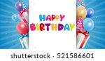 birthday celebration background | Shutterstock .eps vector #521586601