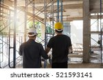 engineer and architect working... | Shutterstock . vector #521593141