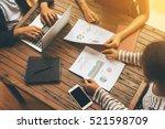 business people meet up on... | Shutterstock . vector #521598709