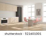 white kitchen. scandinavian... | Shutterstock . vector #521601001