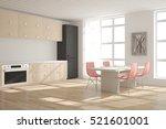 white kitchen. scandinavian... | Shutterstock . vector #521601001