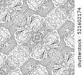 tracery seamless calming...   Shutterstock . vector #521602174