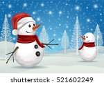 christmas greeting card with... | Shutterstock .eps vector #521602249