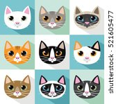 Cute Cats Vector Pattern ...