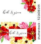 romantic invitation. wedding ... | Shutterstock .eps vector #521608144