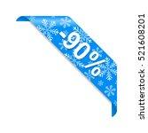 winter discount 90  | Shutterstock .eps vector #521608201