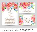 vintage delicate invitation... | Shutterstock .eps vector #521609515