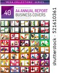 mega collection of 40 business... | Shutterstock .eps vector #521610361