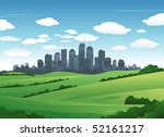 city landscape | Shutterstock .eps vector #52161217