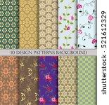 vector pattern pattern fills ... | Shutterstock .eps vector #521612329