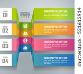 colorful business infographics... | Shutterstock .eps vector #521612914