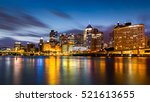 pittsburgh downtown skyline at... | Shutterstock . vector #521613655