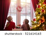 merry christmas and happy... | Shutterstock . vector #521614165