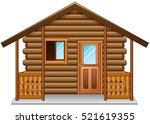 vector illustration of wooden... | Shutterstock .eps vector #521619355