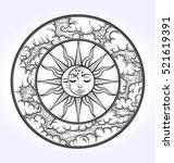 vintage elegant hand draw work... | Shutterstock .eps vector #521619391