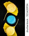 autumn flavored macarons on...   Shutterstock . vector #521620954