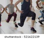 diversity people exercise class ... | Shutterstock . vector #521622139