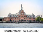 Clock Tower On Hudson River New ...