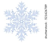 big crystal snowflake in blue... | Shutterstock . vector #521626789