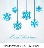 vector set of snowflakes... | Shutterstock .eps vector #521634421