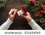 christmas background.... | Shutterstock . vector #521634565