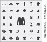 clothes icons universal set for ... | Shutterstock .eps vector #521636161