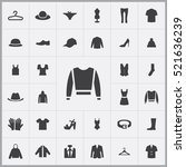 pullover icon. clothes icons... | Shutterstock .eps vector #521636239