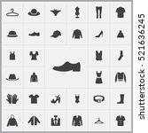 shoe icon. clothes icons... | Shutterstock .eps vector #521636245