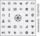 cinema tape icon. cinema icons... | Shutterstock .eps vector #521637415