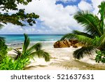 amazing tropical beach | Shutterstock . vector #521637631