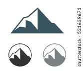 peak of mountain logo template | Shutterstock .eps vector #521639671