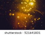 gold abstract bokeh background | Shutterstock . vector #521641831