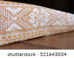 traditional white towel with... | Shutterstock . vector #521643034