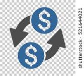dollar exchange icon. vector... | Shutterstock .eps vector #521644021
