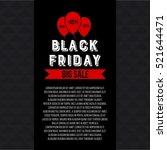 abstract vector black friday... | Shutterstock .eps vector #521644471
