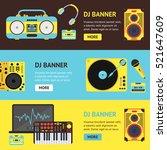 dj audio music equipment banner ...   Shutterstock .eps vector #521647609