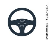 Car Steering Isolated Icon On...
