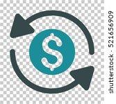 money turnover icon. vector... | Shutterstock .eps vector #521656909